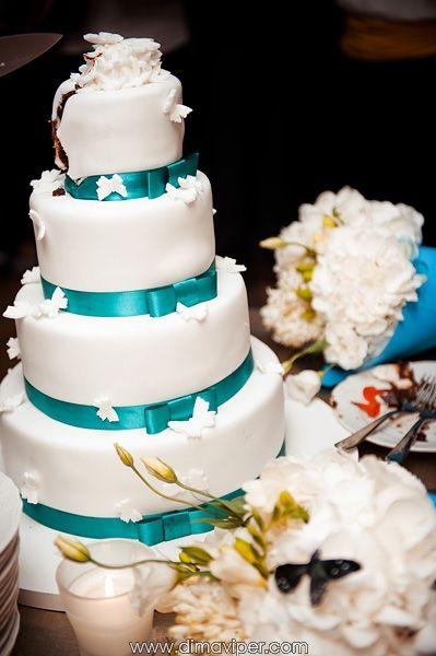свадебный торт в цвете тиффани