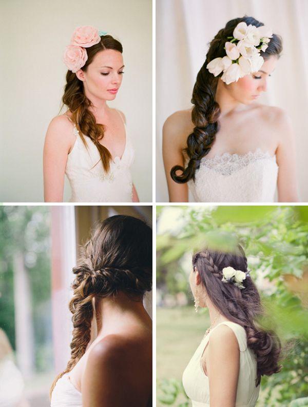 прически невесты косы
