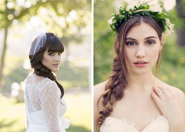 прически с косами для невесты