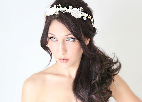 цветы в прическу невесты