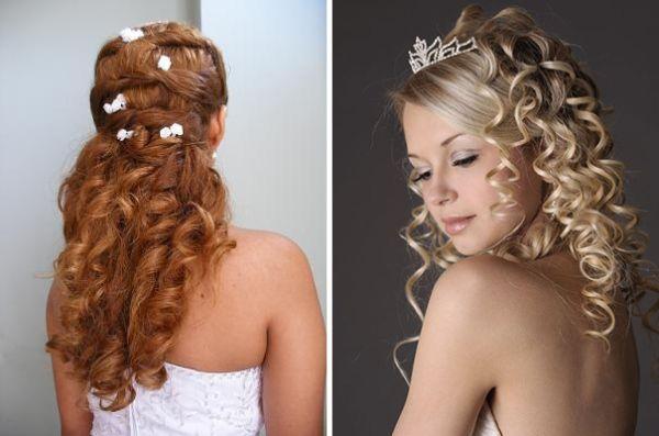 прически невесты на средние волосы