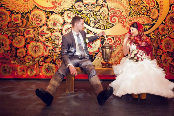 свадьба хохлома