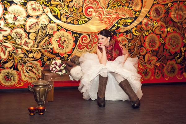невеста на свадьбе в русском стиле