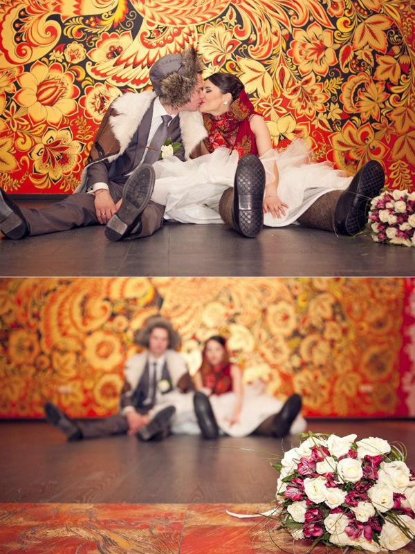 свадебная фотосессия в русском стиле