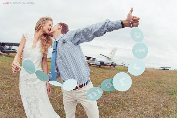 свадебная гирлянда мятный