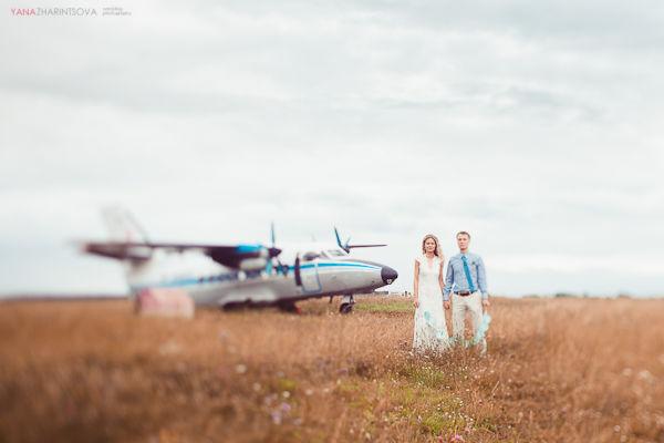 свадьба и самолеты