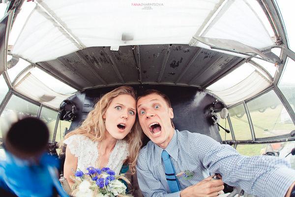 оригинальное свадебное фото