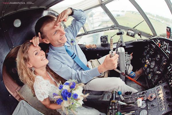 свадьба аэродром и самолеты