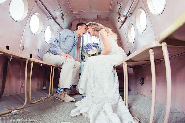 свадебная фотосессия в самолете