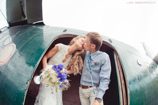 Свадьба аэродром и самолёты