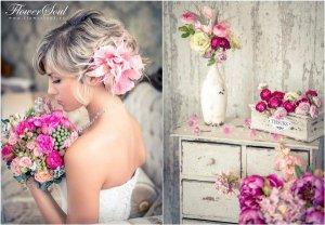 образ невесты цветы в волосах