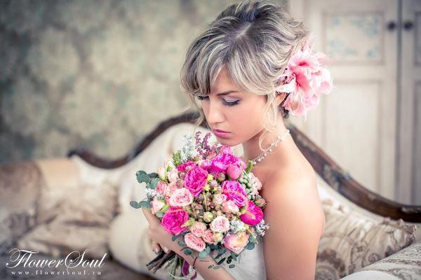 образ невесты в стиле шебби-шик