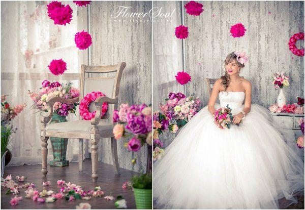 невеста в стиле шебби-шик