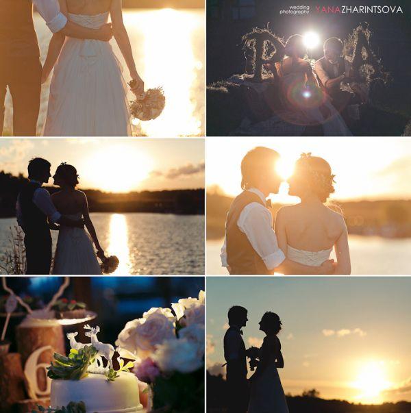 свадьба летом на закате