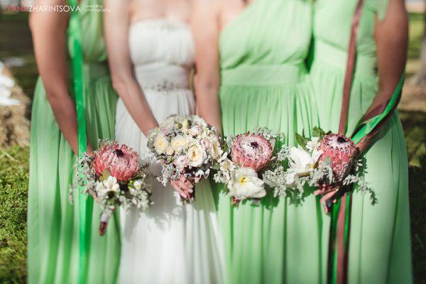 букеты невесты и подружек