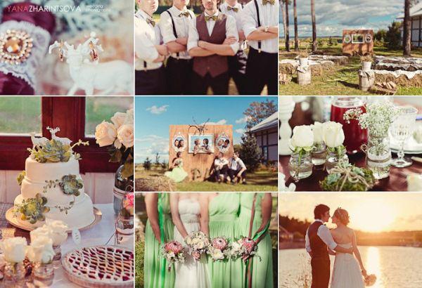 летняя свадьба рустик