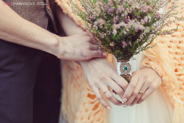 летний букет невесты