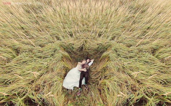 свадьба на природе рустик