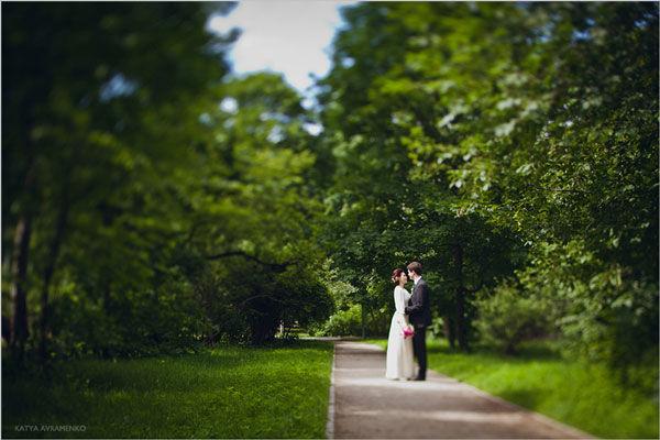 летние свадебные фотографии