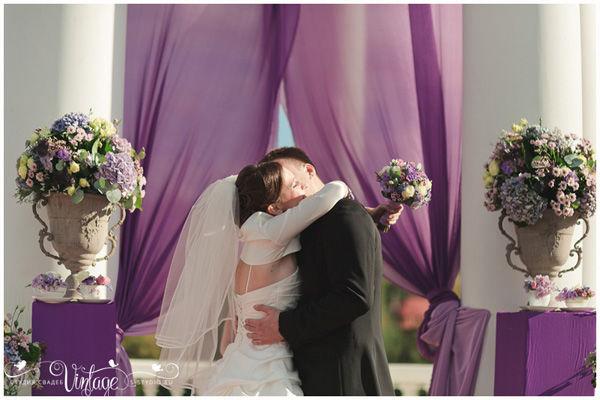 фиолетовая свадьба
