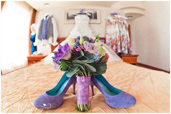 фиолетовые туфли на свадьбу