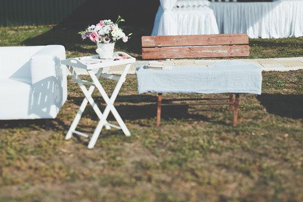 декор свадьбы летом