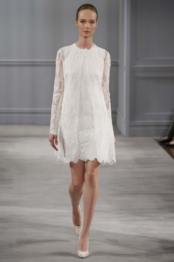 кружевное свадебное платье Monique Lhuillier 2014