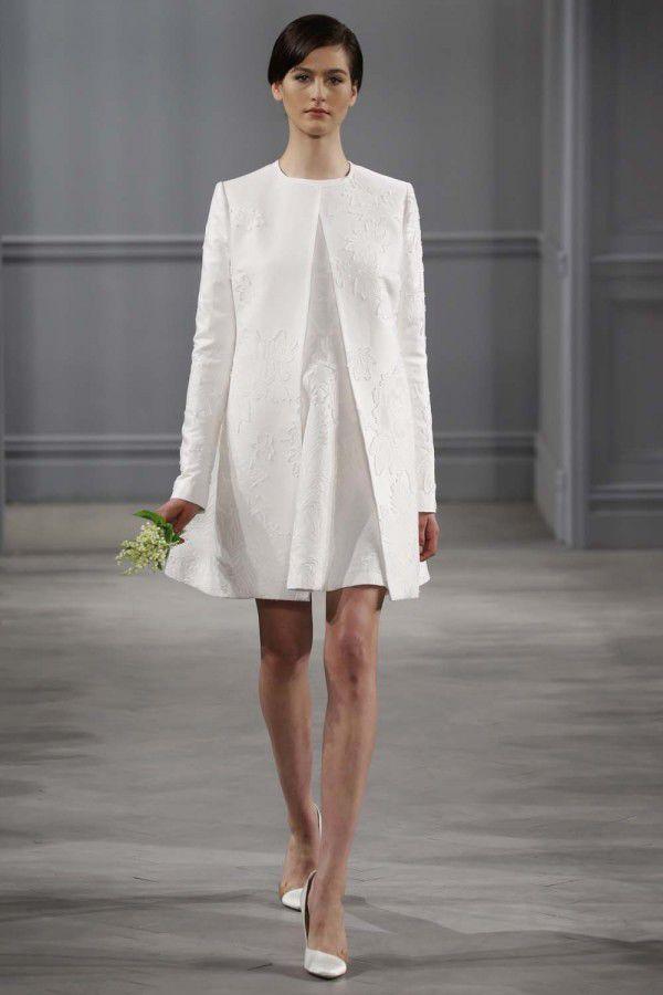многослойное свадебное платье  Monique Lhuillier