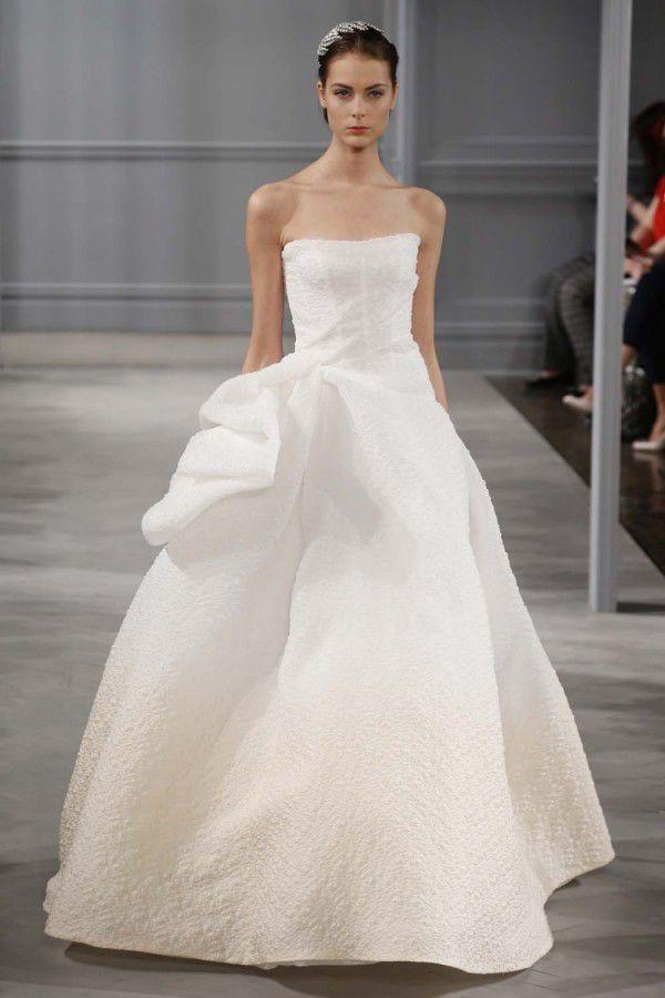 экстравагантное свадебное платье Monique Lhuillier