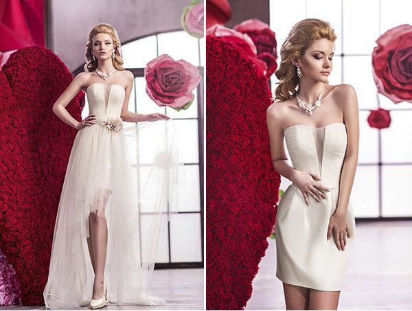 короткое свадебное платье трансформер