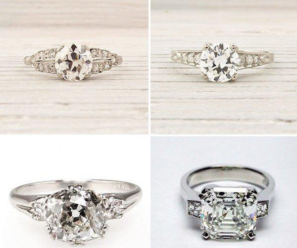 кольца на свадьбу винтаж