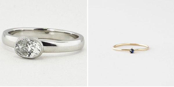 обручальные кольца с одним камнем