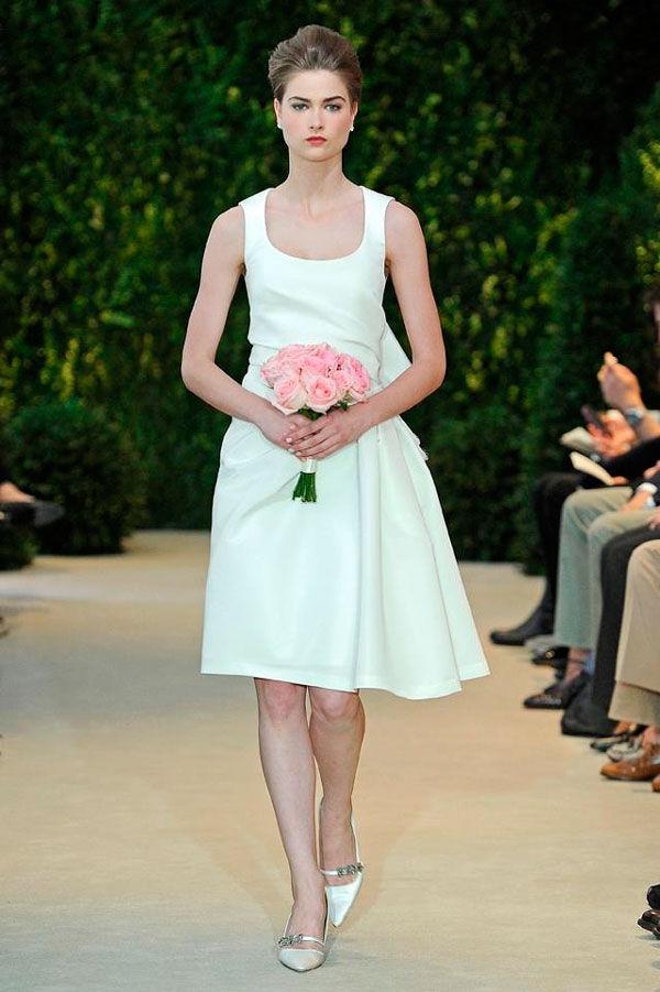 белые свадебные короткие платья