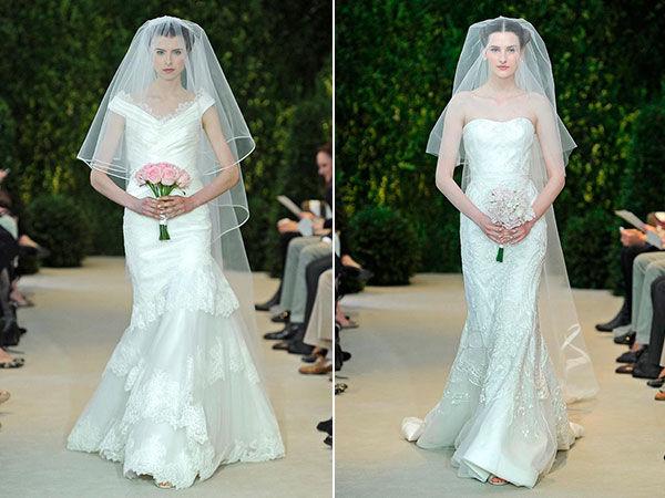 свадебные платья в стиле русалка