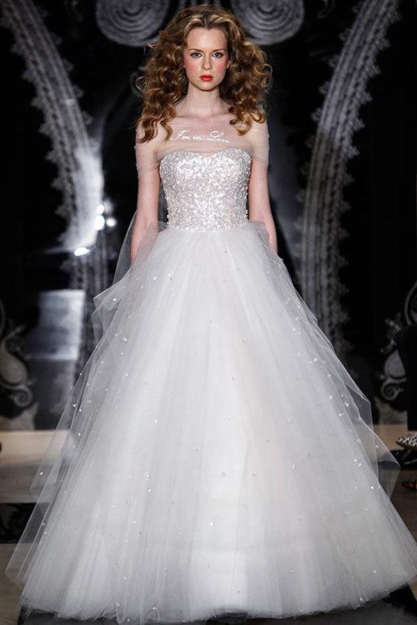 свадебное платье белое пышное