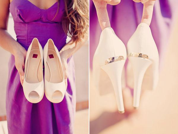 свадебные белые туфли на каблуке