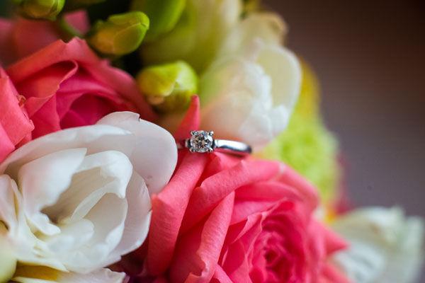 букет невесты с розовым и белым