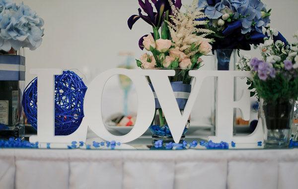 оформление свадьбы буквами
