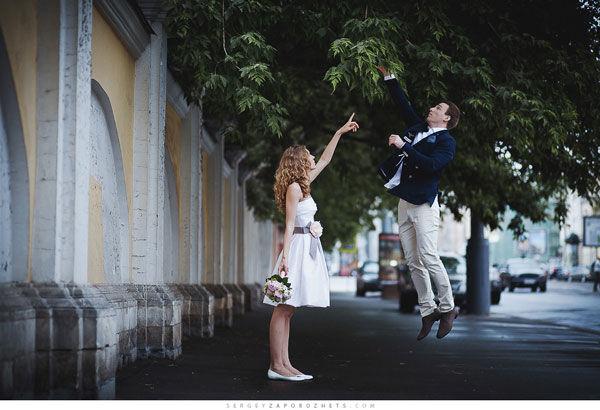 свадебная прогулка по москве