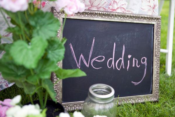меловая доска на свадьбе