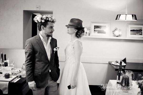 черно-белые свадебные фото