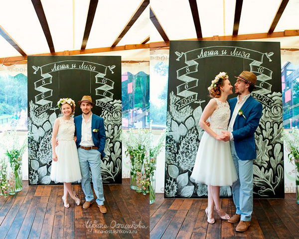свадьба на летней веранде