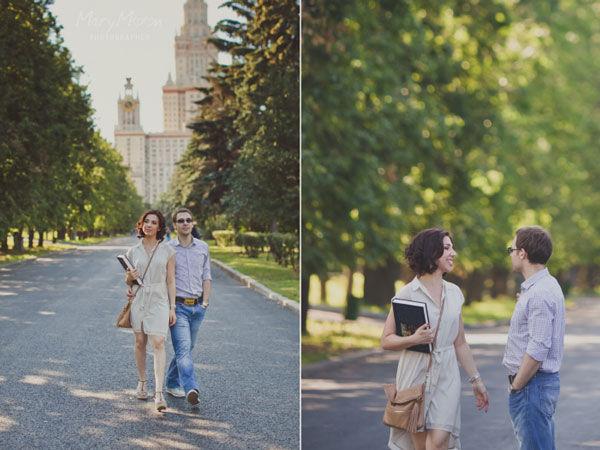 фотосессия у МГУ