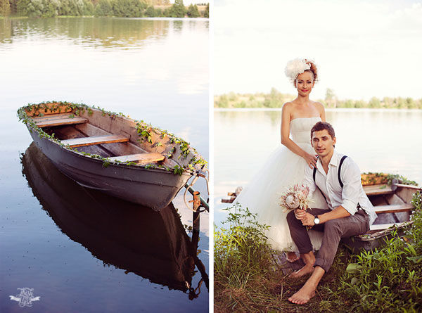 свадьба на берегу реки