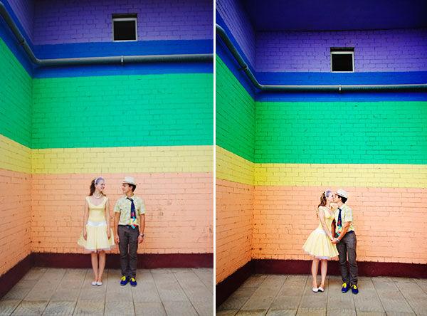 свадьба в радужном стиле