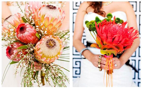 букеты невесты летом