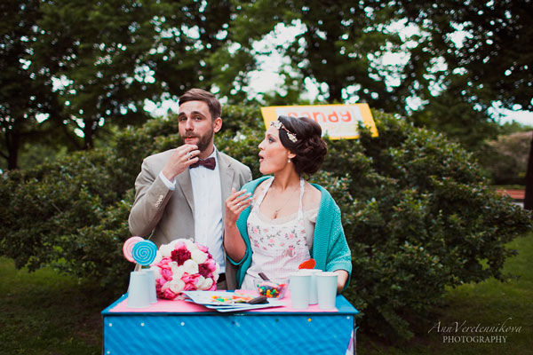 тематическая свадьба летом