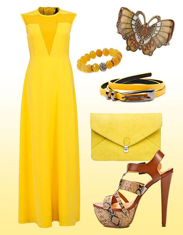 желтые платья подружек невесты