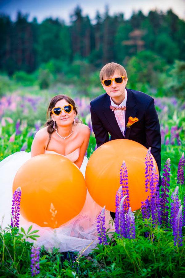 свадьба в оранжевом цвете фото