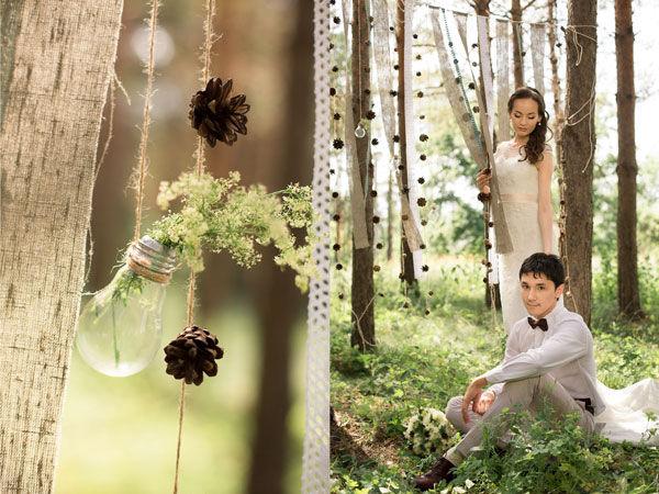 свадьба на природе оформление
